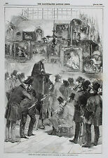 Auction subasta at en Messrs christie's Manson's 1856 London Illustrated News