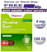 Walgreens Nicotine Gum 4 Mg, 160 Count Cool Mint Flavor Compare Nicorete 05/22