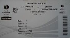 TICKET UEFA EL 2013/14 C.S. Pandurii - Dnipro Dnipropetrovsk