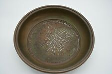 More details for vintage round copper sieve 32.8cm diameter 7cm tall 0.885kg