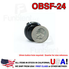 Sanwa OBSF-24 - BLACK Momentary  Push Button JAMMA guitar killswitch 24mm MAME