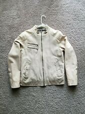 Guess Leather White Ivory Jacket Size M