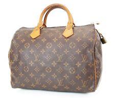 Authentic LOUIS VUITTON Speedy 30 Monogram Boston Handbag Purse #37257