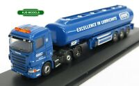 BNIB N GAUGE OXFORD DIECAST 1:148 NSHL04TK Scania Highline Tanker Exol Lorry
