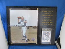 Official NFL Johnny Unitas Baltimore Colts All-Time Best Wall Plaque & Card
