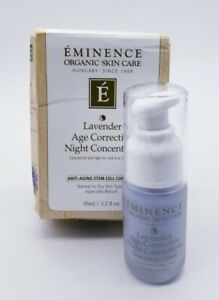 Eminence Lavender Age Corrective Night Concentrate 1.2 Ounce damaged box