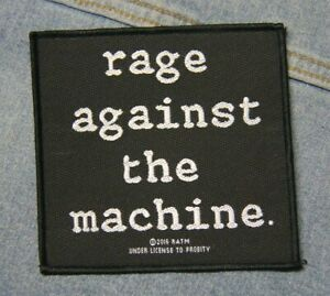 Rage against the machine sew on patch retro Official merchandise metal music