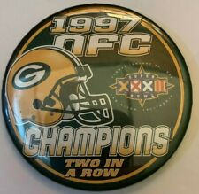 Vintage 1997 Green Bay Packers NFC Champions & Super Bowl XXXII Pin NFL