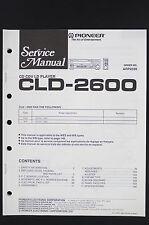 Pioneer CLD-2600 ORIGINALE CD / CDV / ld-player MANUALE DI SERVIZIO/CIRCUITO