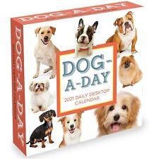 2021 Dog A Day Daily Desktop Calendar