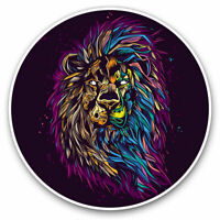 2 x Vinyl Stickers 7.5cm - Lion Head Art Big Cat Africa Cool Gift #14774