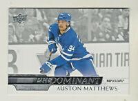 2020-21 Upper Deck PREDOMINANT #PR-27 AUSTON MATTHEWS Toronto Maple Leafs