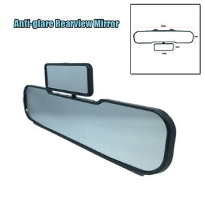 Clip-on Car Anti-Glare Safty Driving HD 300MM Universal Interior Rearview Mirror