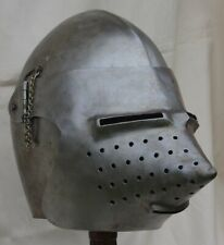 Pig Snout Bascinet Medieval Knight armor helmet made by Rob Valentine in America