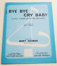 Partition sheet music MORT SHUMAN : Bye Bye  * 70's A Nous Les Petites Anglaises