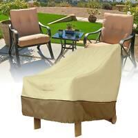 Garden Patio Waterproof Furniture Protection Chair Cover Outdoor/ Indoor Beige