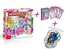 Monopoly Junior My Little Pony Jeu de plateau + serviette magique jeu Mlp NEUF