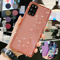 For Samsung Galaxy S21 Ultra Note 20 S20 FE 5G Case Bling Rubber Protected Cover