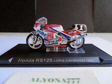 1/24 Ixo HONDA RS125 LORIS CAPIROSSI 1991 Moto Bike Motorcycle 1:24 Altaya /IXO