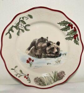 MODERN FARMHOUSE Bears Salad/Dessert Plate Heritage Forest Stoneware Better Home