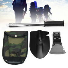 4 In 1 Survival Emergency Shovel Axe Saw Blade Tools Kit For Camping Hiking