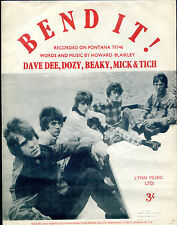 Dave Dee, Dozy, Beaky, Mich & Tich : Bend It! : original UK 1960's Sheet Music