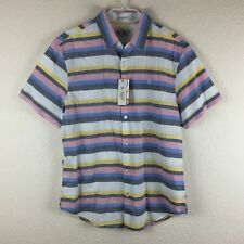 Original Penguin Heritage Slim Fit Short Sleeve Button Down Shirt - Men's M