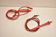 HHS Red Safety Probes (1) Carol C1320 & (1) Unknown Mdl Safety Probe (Lot of 2)