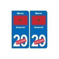 Maroc المغرب sticker numéro département au choix autocollant plaque immatriculat