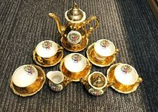 Bavaria Waldershof handarbeit 22ct gold plated tea pot set