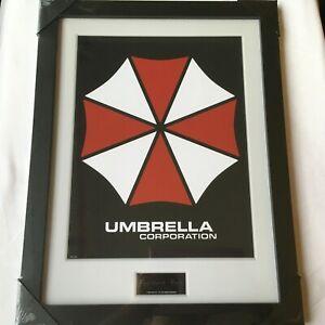 "Resident Evil Umbrella Corp Frame Art print 34x45 cm Collector ""NEW"" SEALED"