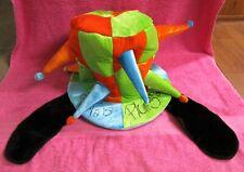 Walt Disney World Goofy Green Blue Orange Black Ears Jester Adult Hat