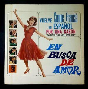 """CONNIE FRANCIS (en español) en busca de amor SPAIN VINYL 7"""" 45 EP MGM 1964"""