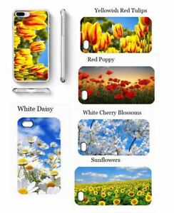 Spring flower phone case daisy poppy tulips cover for Samsung iPhone