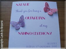 Unbranded Personalised Thank You Hand-Made Cards
