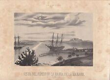 "GRAB-8 SPAIN 1848 MIALHE ORIGINAL ""VIAJE PINTORESCO... ISLA DE CUBA"" MARQUIER ED"
