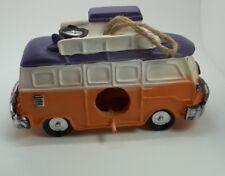 """Vintage Volkswagen Van Bus Purple Hanging Birdhouse Bird House 5""""H #462"""