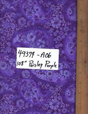 "49374-A06, 108"" EXTRA WIDE QUILT BACKING, BY THE YARD,  PAISLEY - PURPLE"
