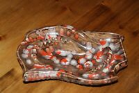 Vintage Mid Century Modern Ashtray Byron Molds Speckled Ceramic Tobacciana 13x 8
