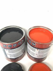 Kubota KX-4 U-Series Orange & Dark Blue Digger Paint Enamel Paint 1 Litre Tins