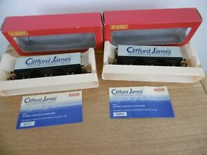 Hornby R6291 Clifford James 6 wheel Closed Van wagons xx2 limited editions