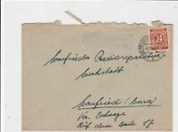 germany 1947 allied occupation stamps cover ref 18680