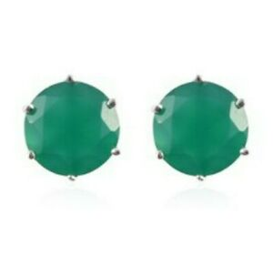4.00ct Onyx Stud Earrings With Push On Backs In Sterling Silver Bnwt