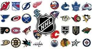 """2021/22 NHL Hockey Schedule Magnets 5"""" X 3.5""""(Choose From List)"""