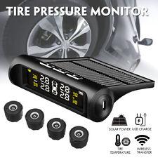 Solar Wireless TPMS Car Tire Tyre Pressure Monitoring System + 4 Internal Sensor