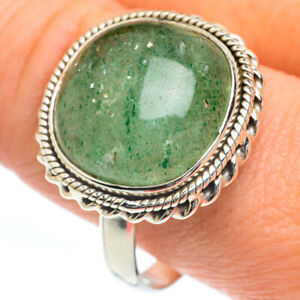 Green Aventurine 925 Sterling Silver Ring Size 12.5 Ana Co Jewelry R63226F
