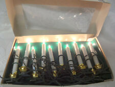 Vintage Christmas Long Candle Clip On Lites Garland 10 Light String