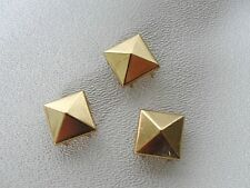 50 pc. Nailhead, Studs 12mm square/pyramid goldtone