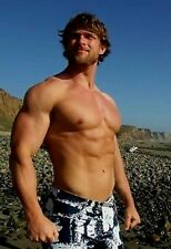Shirtless Male Huge Muscular Body Builder Hottie Beard Pecs Abs PHOTO 4X6 N287