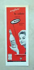 C895 - Advertising Pubblicità - 1959 - OLIO BERIO SCEGLIETE LA SALUTE